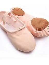 Femme Ballet Toile Plates Entraînement Noir Rose Kaki