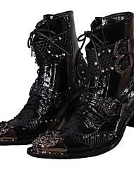 Унисекс Ботинки В ковбойском стиле Верховые ботинки Модная обувь Мотоциклетные ботинки Ботильоны Армейские ботинки Формальная обувьНаппа