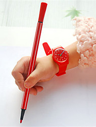 Kid's Sport Watch Fashion Watch Quartz Water Resistant / Water Proof Noctilucent Rubber Band Black Red Orange Purple
