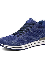 Running Shoes Men's Athletic Shoes Comfort Breathable Mesh Fabric Tulle Fall Winter Athletic Outdoor  Comfort Lace-up Flat Heel Blue Ruby Black