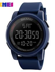 SKMEI Муж. Спортивные часы электронные часы Цифровой PU Группа Черный Синий Зеленый