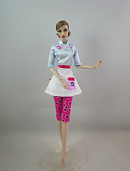 Fashion Outfit Chef Costume For Barbie Doll For Girl's Doll Toy