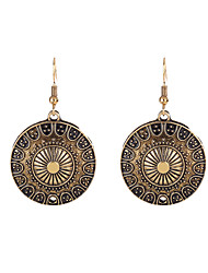 Lureme®Women's Drop Earrings Jewelry Circular Stretch Luxury Sideways Simple Style Classic DIY Alloy Geometric Jewelry ForSpecial Occasion New