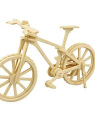 Jigsaw Puzzles DIY KIT 3D Puzzles Building Blocks DIY Toys Bicycle Wooden