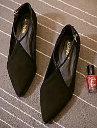 Women's Sandals Comfort Fabric Spring Casual Comfort Gray Black Flat