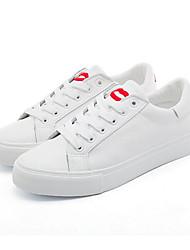 Для женщин Кеды Удобная обувь Полиуретан Лето Повседневные Удобная обувь Черный Розовый и белый Красный/Белый На плоской подошве