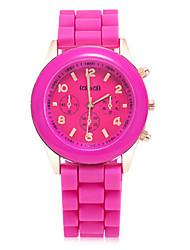 Women's Fashion Watch Quartz Leather Band Blue Pink Beige Rose