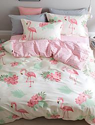 3/4pcs bedding set 100%  cotton duvet/quilt covers bedsheet bedclothes Pillowcase queen full twin  size