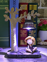 Creative night light Monkey D Luffy Anime the hand office dolls Tony Chopper home resin ornaments crafts