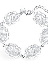 Femme Charmes pour Bracelets Mode Plaqué argent Forme Ronde Bijoux Pour Quotidien