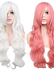 Cosplay Halloween Party Wig Heat Resistant Long Curly Synthetic Wig