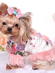 Cachorro Macacão Roupas para Cães Mantenha Quente Princesa