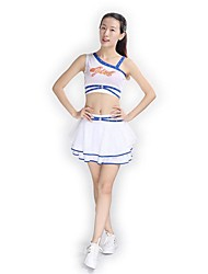 Cheerleader Costumes Outfits Women's Performance Polyester Knitwear Appliques 2 Pieces Sleeveless Natural Skirts Tops