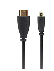 Micro HDMI Câble, Micro HDMI to HDMI 1.4 Câble Male - Male 1.5M (5Ft)