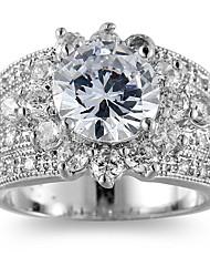 Ring Settings Ring  Luxury Elegant Noble Zircon  Women's Roud  Rhinestone Euramerican Fashion Birthday Wedding Movie Gift Jewelry
