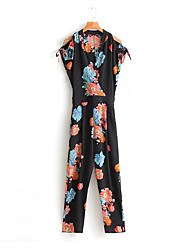 Women's Going out Rompers,Street chic Loose Solid Summer