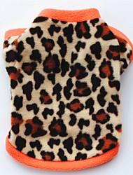 Gatto Cane Cappottini T-shirt Felpa Abbigliamento per cani Da serata Casual Tenere al caldo Leopardo Nero Leopardo