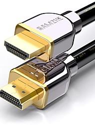 HDMI 2.0 Cabo, HDMI 2.0 to HDMI 2.0 Cabo Macho-Macho Cobre banhado a ouro 5,0m (16 pés)