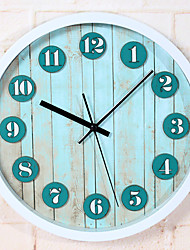 Countryside Wood Customs Retro Nautical Wall ClockRound Novelty Acetate/Plastic Indoor Clock