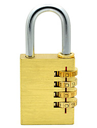 RESET RST-054 Password Padlock Pure Copper All-Copper Four-Digit Password Large Strict Security Door Lock Pad Lock Padlock Dail Lock Password Lock