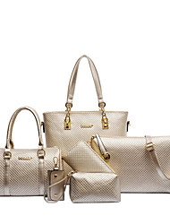 Women Bags All Seasons PU Polyester Cotton Bag Set with Pattern / Print Printing Zipper for Wedding Event/Party Casual Sports Formal