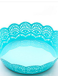 Lace Shape Plastic Fruit Plate Vegetable Salad Bowl Kitchen Potato Snacks Dry Fruit Plate Simple Korean Bowl