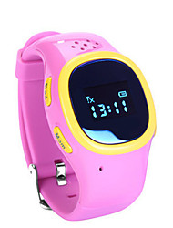 Kid's Smart Watch Digital Rubber Band Blue Silver Pink