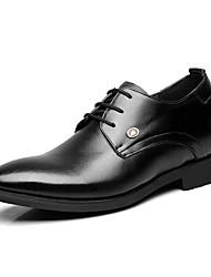 Men's Oxfords Formal Shoes Cowhide Spring Summer Wedding Office & Career Party & Evening Formal Shoes Low Heel Black Under 1in
