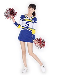Cheerleader Costumes Outfits Women's Performance Knitwear Pattern/Print 2 Pieces Long Sleeve High Dresses