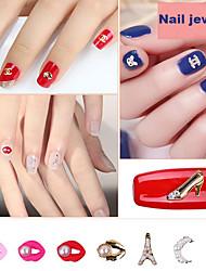 pinpai strass nail art diy polish alliage accessoires mini perle lèvre perle arc design