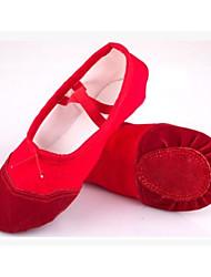 Femme Ballet Toile Tissu Plates Entraînement Noir Rouge Rose