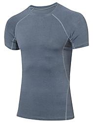 Homme Tee-shirt de Course Couche de Base Manches Courtes Fitness, course et yoga Séchage rapide Vêtements de Compression/Sous maillot