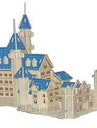 Puzzles Kit de Bricolage Puzzles 3D Blocs de Construction Jouets DIY  Château Bois