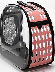 Кошка Собака Переезд и перевозные рюкзаки Животные Корпусы Компактность Дышащий Footprint / Paw Черный Серый Розовый