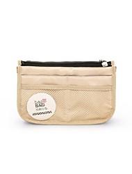 Unisex Storage Bag Nylon All Seasons Casual Baguette Zipper khaki Fuchsia Black