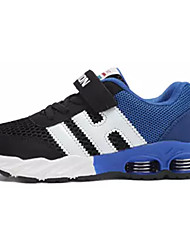 Boys' Sneakers Comfort Spring Fall Tulle PU Casual Hook & Loop Flat Heel Navy Blue Black/Blue Flat