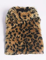 Cachorro Súeters Roupas para Cães Casual Leopardo Leopardo