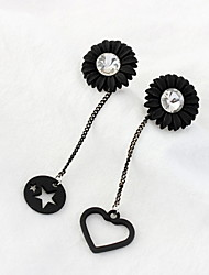 Drop Earrings New Mismatching Asymmetry Earrings Personalized Fashion Star Heart Daisy Earrings For Women Daily Party Gift Movie  Jewelry