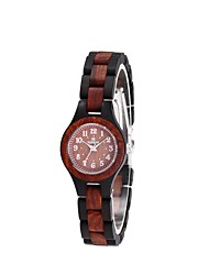 REDEAR®Women's Wood Watch Japanese Quartz Wooden Wood Band Luxury Elegant Black Brown Khaki