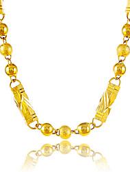Homens Mulheres Colares em Corrente Forma Redonda Forma Geométrica Bola Chapeado Dourado Circular Original Vintage bijuterias Jóias Para