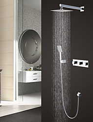 Contemporary Brass Chrome Shower Faucet with 8 inch Shower head / Hand Shower