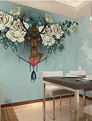 Pattern Wallpaper For Home Modern Wall Covering , Non-woven fabric Material Adhesive required Mural , Room Wallcovering