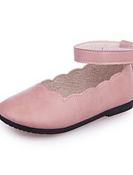 Girls' Flats Comfort Flower Girl Shoes PU Spring Fall Casual Party & Evening Dress Comfort Flower Girl Shoes Magic Tape Flat HeelBlushing