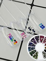 1pcs Fashion Colorful 2mm Nail Art Rhinestone Sweet Style Decoration Shining Crystal DIY Design For Nail Beginner DIY Beauty Decoration Accessories