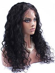 Élégante lisse sans lacets avant cheveux humains perruques avec cheveux bébé vague d'eau pour femmes noires cheveux doux 8-26 pouces