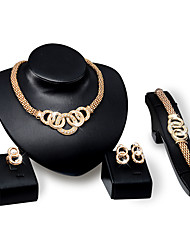 Women's Jewelry Set Rhinestone Fashion Vintage Personalized Euramerican Luxury Statement Jewelry Costume Jewelry Rhinestone Gold Plated