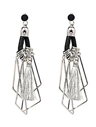Women's Drop Earrings Jewelry Tassel Personalized Hip-Hop Gothic Luxury Elegant Oversized Punk Plush Fabric Alloy Geometric Jewelry For