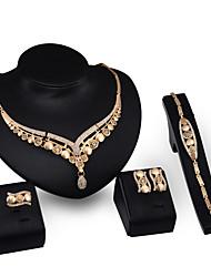 Per donna Set di gioielli Strass Di tendenza Vintage Personalizzato Euramerican Gioielli di Lusso Gioielli importantiStrass Placcato in