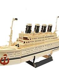 Puzzles Sets zum Selbermachen 3D - Puzzle Bausteine Spielzeug zum Selbermachen Schiff Holz