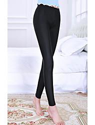 Для женщин просто Стреч Skinny Легенсы Брюки,Со стандартной талией Блесна Обтягивающие Чистый цвет Однотонный